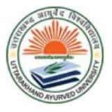 Uttarakhand Ayurveda University logo