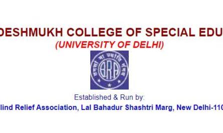 Durgabai Deshmukh College of Special Education