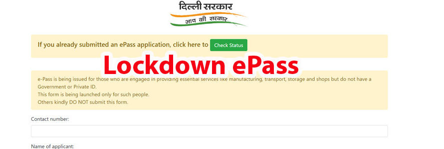 Covid-19 E-Pass: Apply Online State Wise